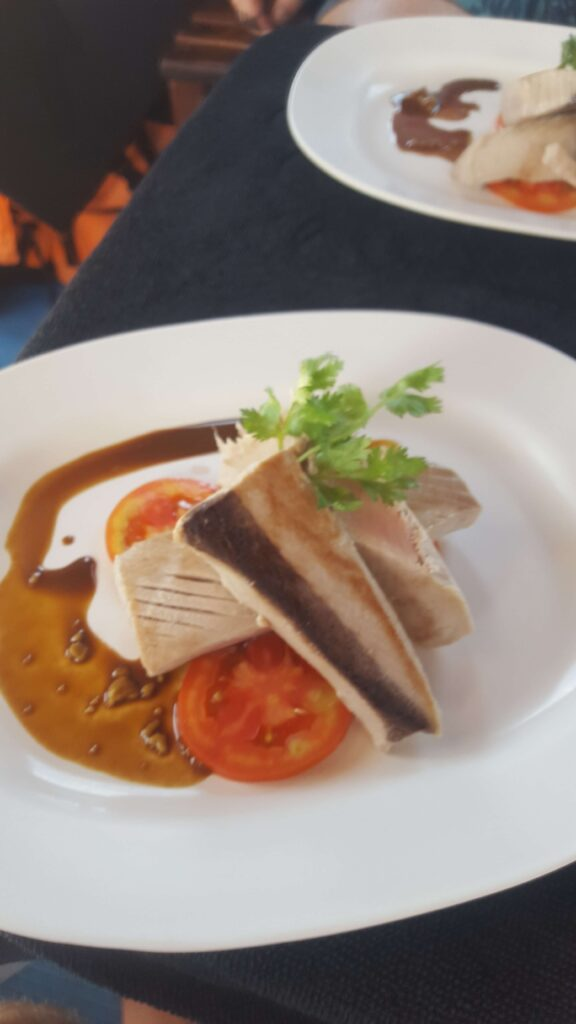Cooked tuna steak